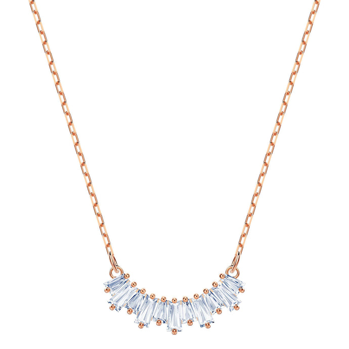 Swarovski Sunshine Necklace Small, White, Rose gold plating
