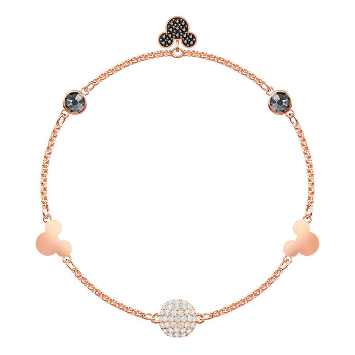 Swarovski Swarovski Remix Collection Mickey Strand, Medium, Multi-colored, Rose gold plating