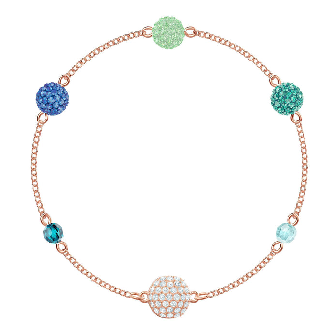 Swarovski Swarovski Remix Collection Pop Strand, Green, Rose gold plating