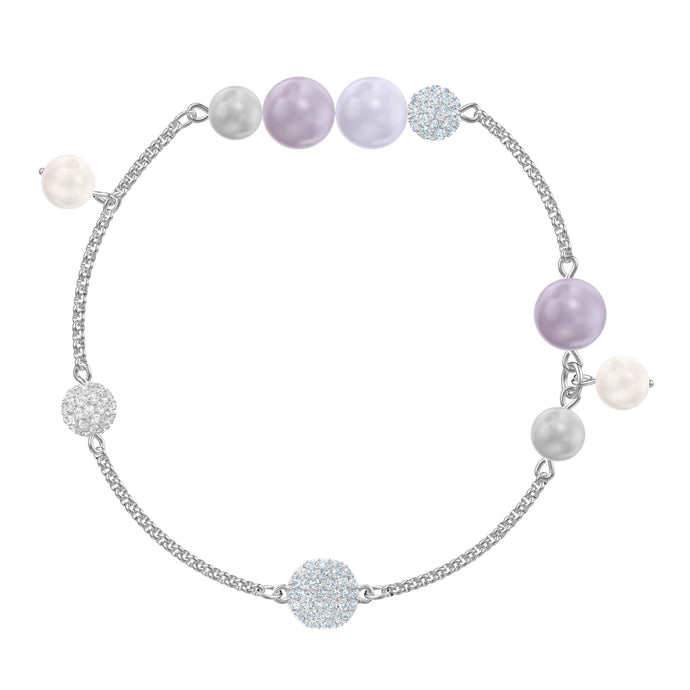 Swarovski Swarovski Remix Collection Pearl Strand, Medium, Multi-colored, Rhodium plating