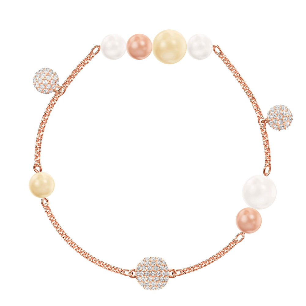 Swarovski Swarovski Remix Collection Pearl Strand, Medium, Multi-colored, Rose gold plating
