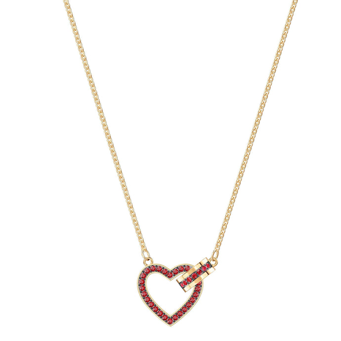 Lovely Necklace, Red, Gold plating