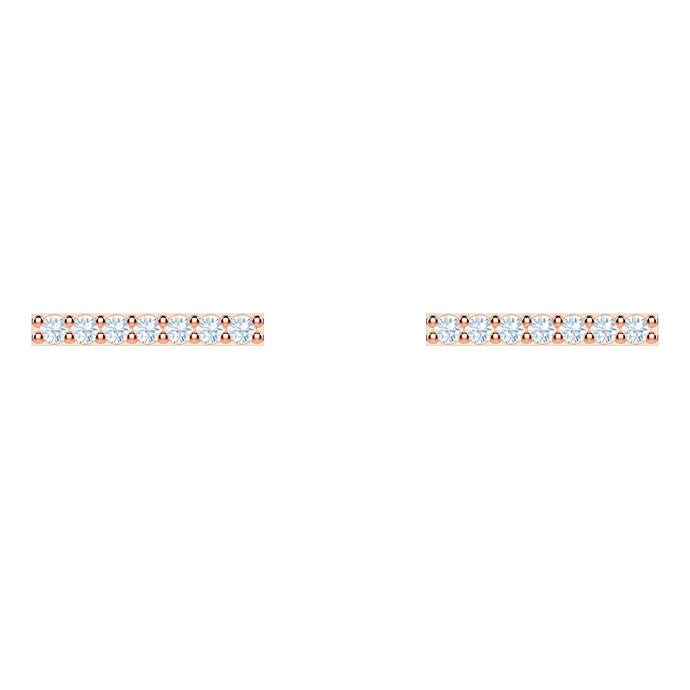 Only Pierced Earrings, White, Rose gold plating