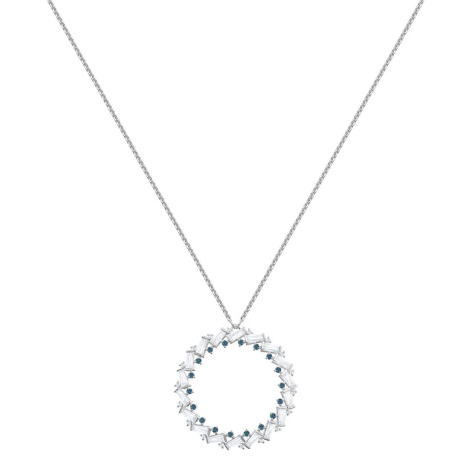 Naeli Necklace, White, Rhodium plating