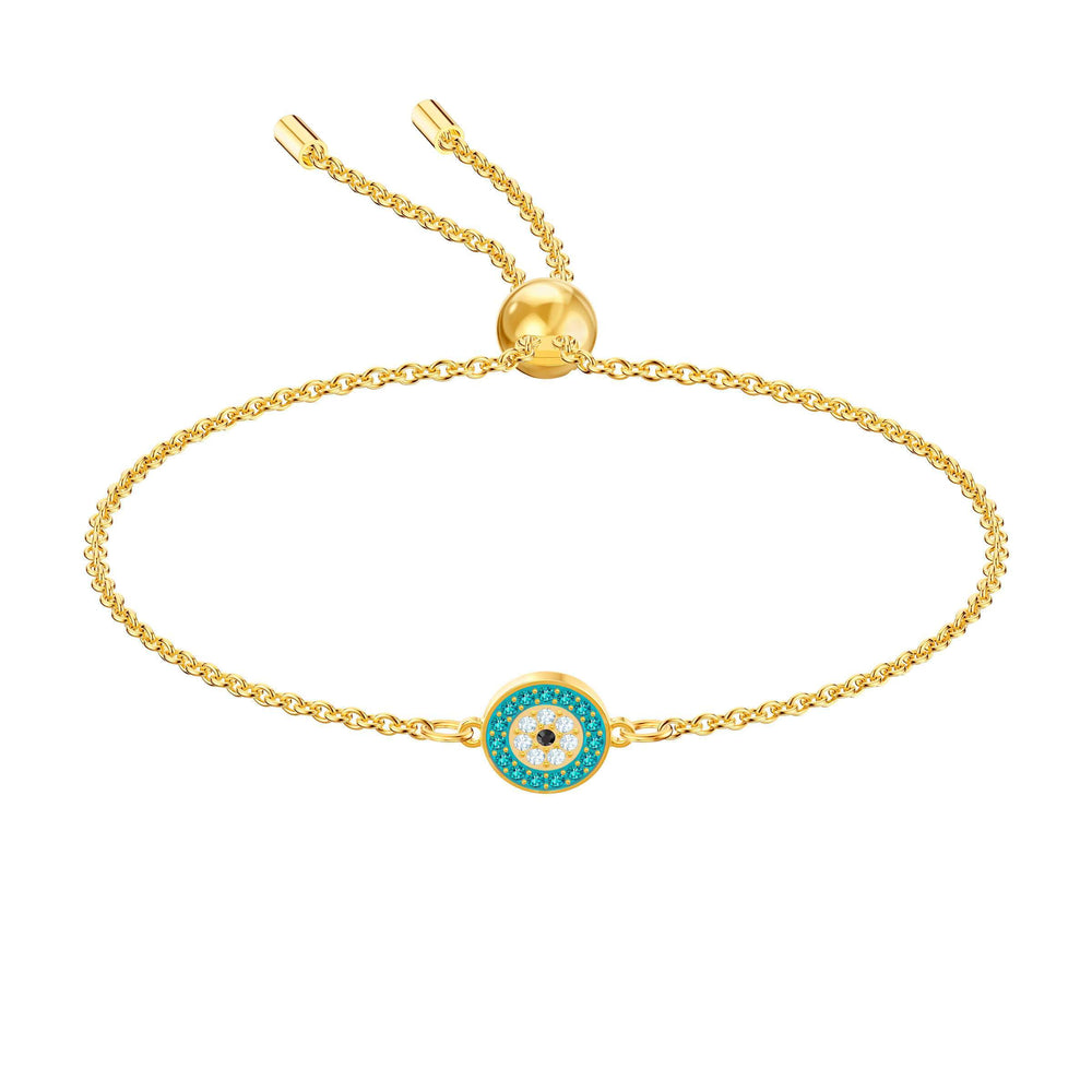 Swarovski Luckily Bracelet, Multi-colored, Gold plating