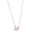 Load image into Gallery viewer, Dazzling Swan Necklace, Multi-colored, Rose gold plating