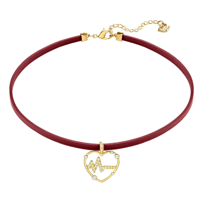 OXO Choker, Red, Gold plating