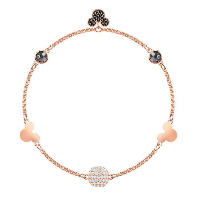Swarovski Swarovski Remix Collection Mickey Strand, Large, Multi-colored, Rose gold plating