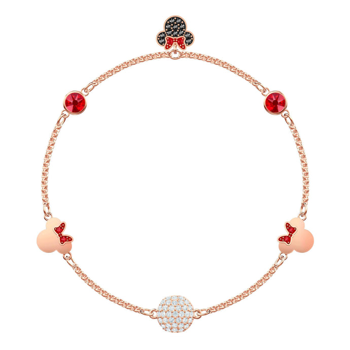 Swarovski Swarovski Remix Collection Minnie Strand, Large, Multi-colored, Rose gold plating