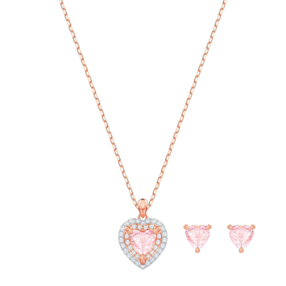 Swarovski One Set, Multi-colored, Rose gold plating