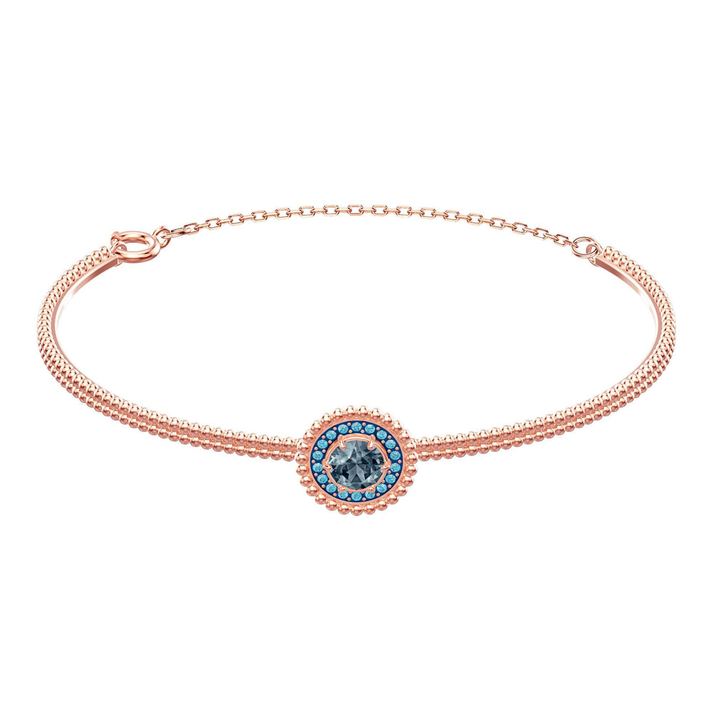 Swarovski Oxygen Bangle, Gray, Rose gold plating