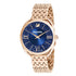 Swarovski Crystalline Glam Watch, Metal Bracelet, Blue, Rose-gold tone PVD
