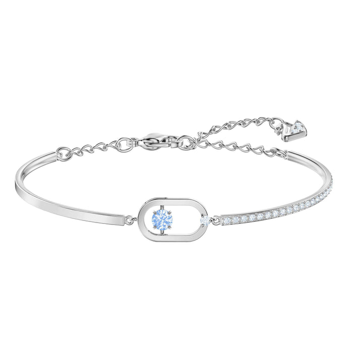 North Bracelet, Blue, Rhodium plating