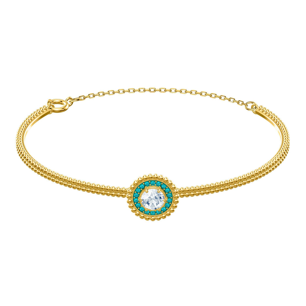 Swarovski Oxygen Bangle, Multi-colored, Gold plating