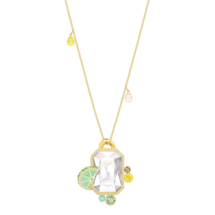 Swarovski No Regrets Pendant, Multi-colored, Gold plating