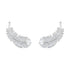 Swarovski Nice Stud Pierced Earrings, White, Rhodium plated