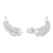 Load image into Gallery viewer, Swarovski Nice Stud Pierced Earrings, White, Rhodium plated