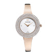 Load image into Gallery viewer, Swarovski Crystal Rose Watch, Metal Bracelet, White, Rose-gold tone PVD