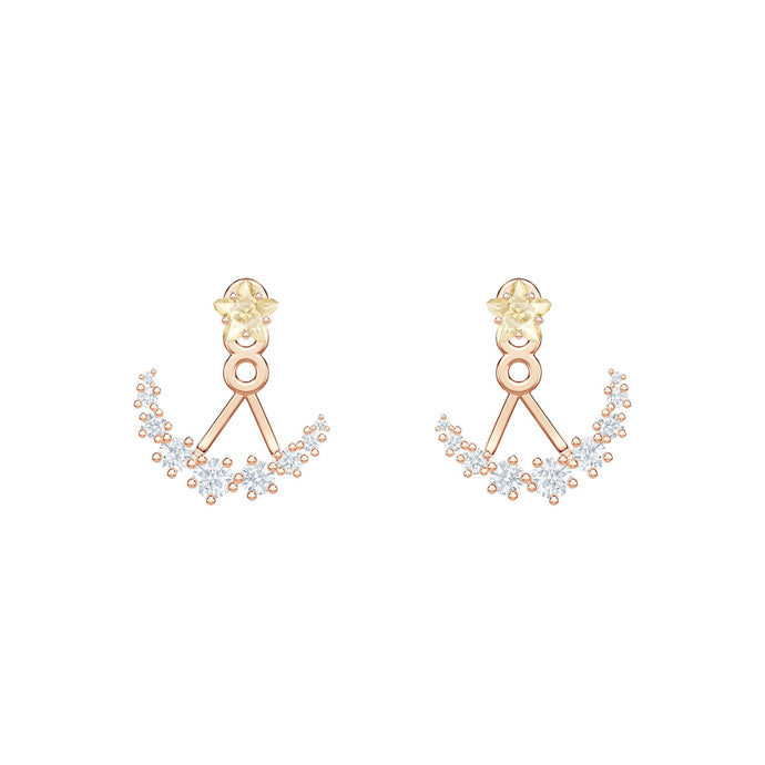 Swarovski Penélope Cruz Moonsun Earring Jackets, White, Rose gold plating