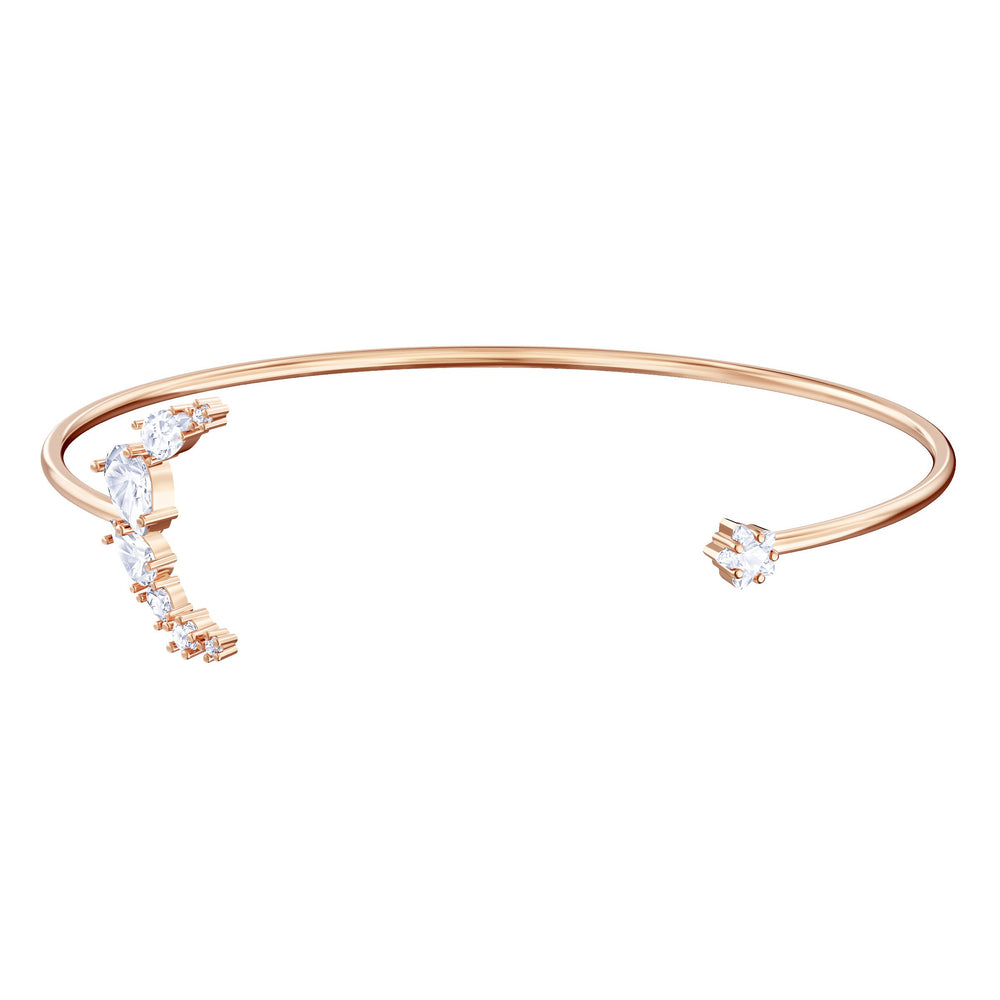 Swarovski Penélope Cruz Moonsun Cuff, White, Rose gold plating