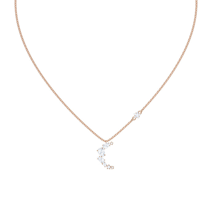 Swarovski Penélope Cruz Moonsun Necklace, White, Rose gold plating
