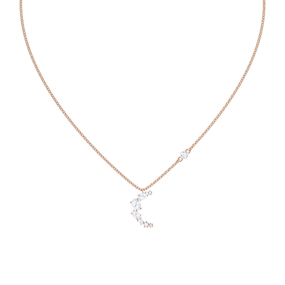 Penélope Cruz Moonsun Necklace, White, Rose gold plating