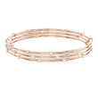 Load image into Gallery viewer, Swarovski Penélope Cruz Moonsun Cluster Bangle, White, Rose gold plating