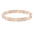 Swarovski Penélope Cruz Moonsun Cluster Bangle, White, Rose gold plating