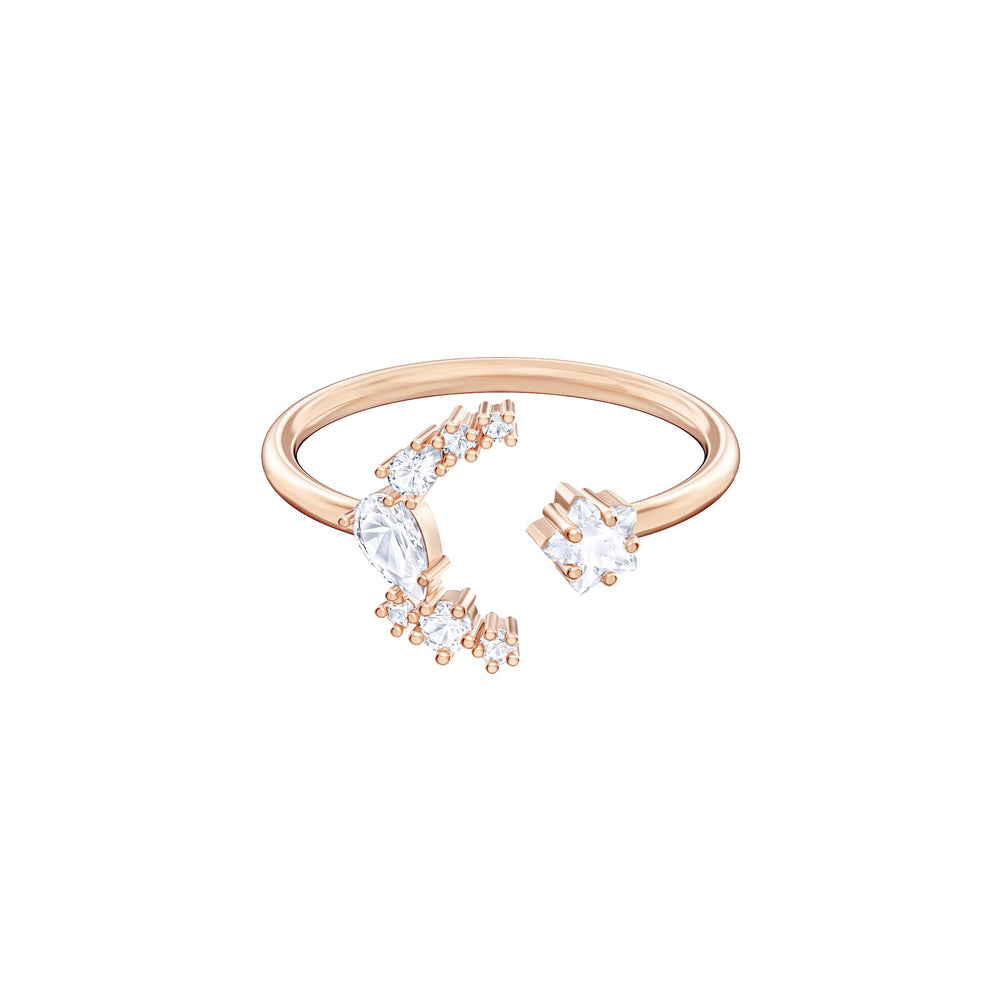 Swarovski Penélope Cruz Moonsun Open Ring, White, Rose gold plating