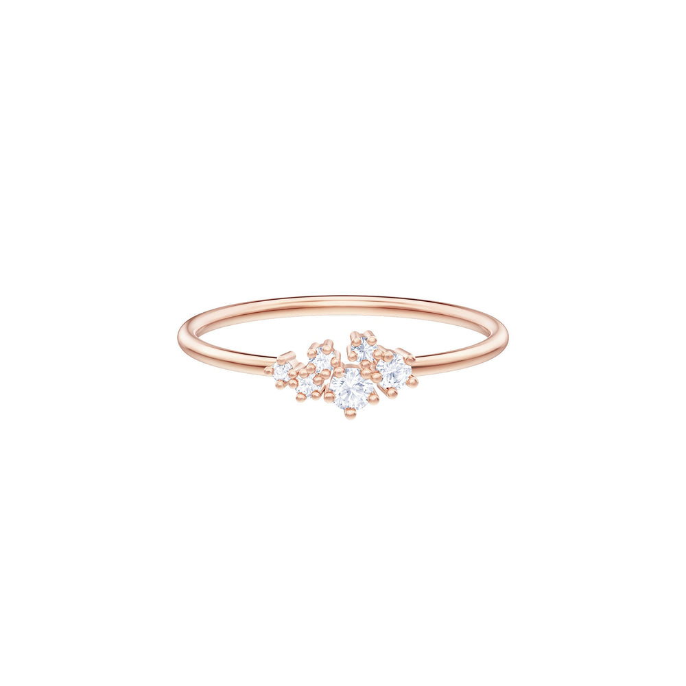 Penélope Cruz Moonsun Ring, White, Rose gold plating