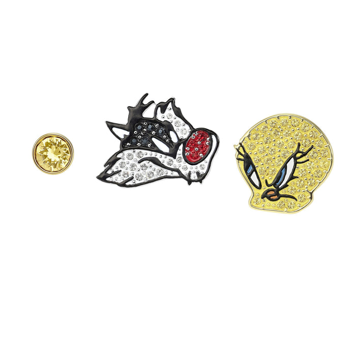 Swarovski Looney Tunes Pierced Earrings, Multi-colored, Mixed metal finish