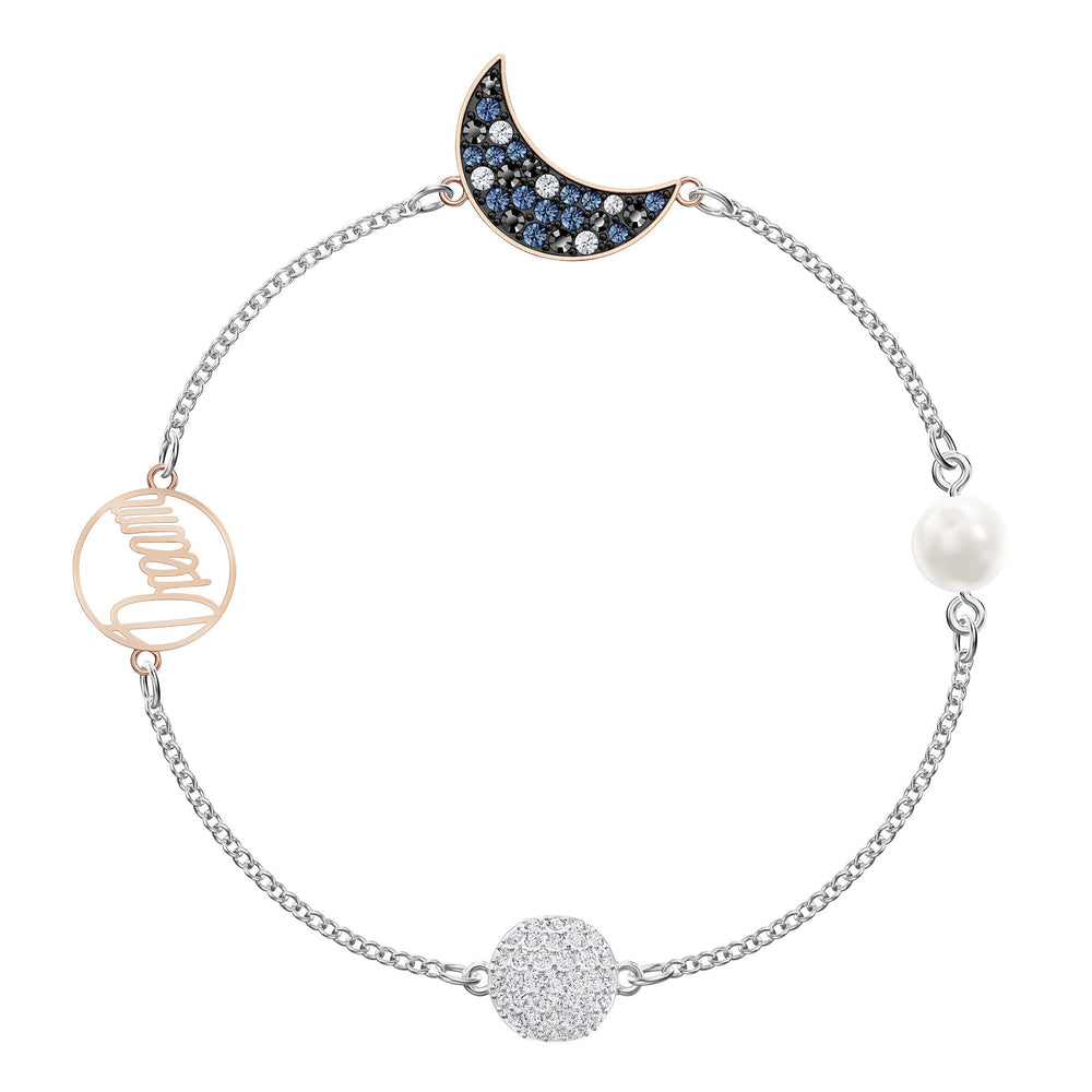 Swarovski Remix Collection Moon Strand, Multi-colored, Mixed metal finish