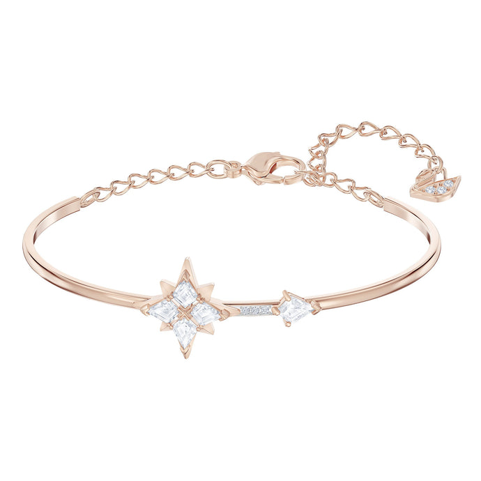 Swarovski Swarovski Symbolic Bangle, White, Rose-gold tone plated