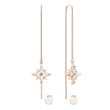 Load image into Gallery viewer, Swarovski Swarovski Symbolic Chain Pierced Earrings, White, Rose-gold tone plated