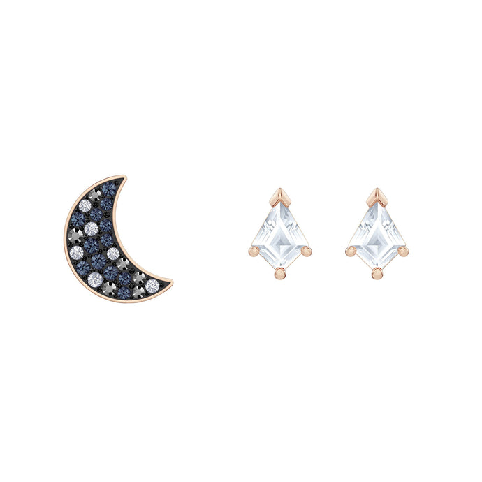 Swarovski Swarovski Symbolic Pierced Earrings set, Multi-colored, Rose-gold tone plated