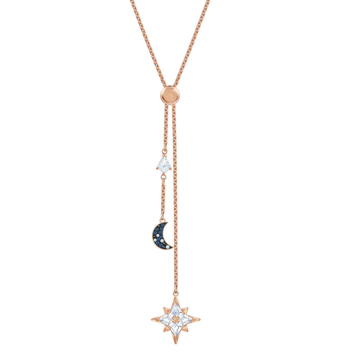 Swarovski Swarovski Symbolic Y Necklace, Multi-colored, Rose-gold tone plated
