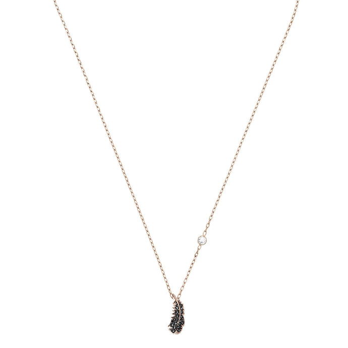 Swarovski Naughty Necklace, Black, Rose-gold tone plated