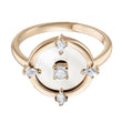 Load image into Gallery viewer, Swarovski North Motif Ring, White, Rose-gold tone plated