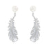 Swarovski Nice Pierced Earrings, White, Rhodium plated