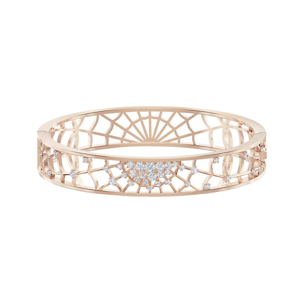 Swarovski Precisely Cuff, White, Rose-gold tone plated