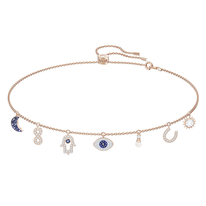 Swarovski Swarovski Symbolic Necklace, Multi-colored, Rose-gold tone plated