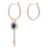 Swarovski Swarovski Symbolic Hoop Pierced Earrings, Multi-colored, Rose-gold tone plated