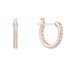 Swarovski Naughty Hoop Pierced Earrings, White, Rose-gold tone plated