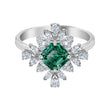 Load image into Gallery viewer, Swarovski Palace Motif Ring, Green, Rhodium plated