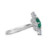 Swarovski Palace Motif Ring, Green, Rhodium plated