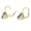 Load image into Gallery viewer, Swarovski Bella V Pierced Earrings, Blue, Gold-tone plated