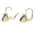 Swarovski Bella V Pierced Earrings, Blue, Gold-tone plated