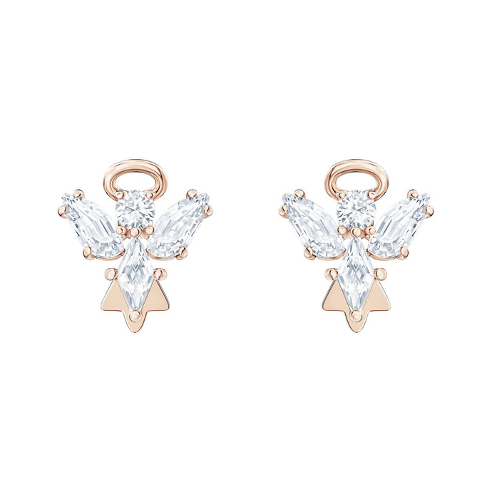 Swarovski Magic Angel Stud Pierced Earrings, White, Rose-gold tone plated