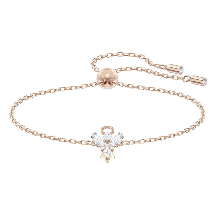 Magic Angel Bracelet, White, Rose-gold tone plated
