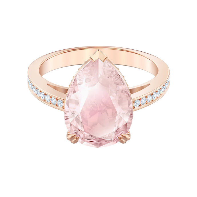 Swarovski Vintage Cocktail Ring, Pink, Rose-gold tone plated